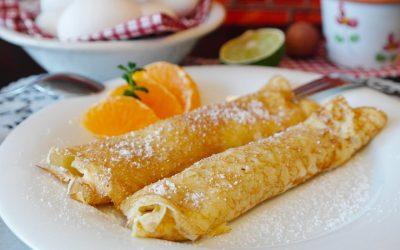 Pandekage opskrift med appelsin og flormelis.