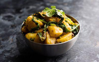 Kartoffel-spinat masala