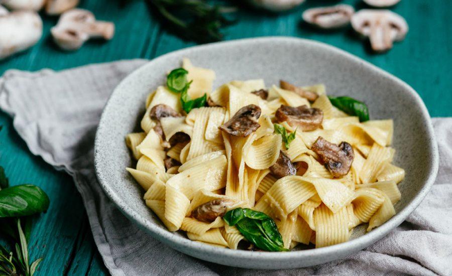 Spaghetti Carbonara - Opskrift på vegetarisk pasta